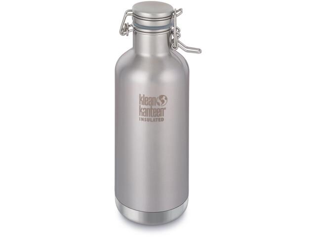 Klean Kanteen Growler Vacuum Insulated Bottle Swing Lok Cap 946ml Brushed Stainless